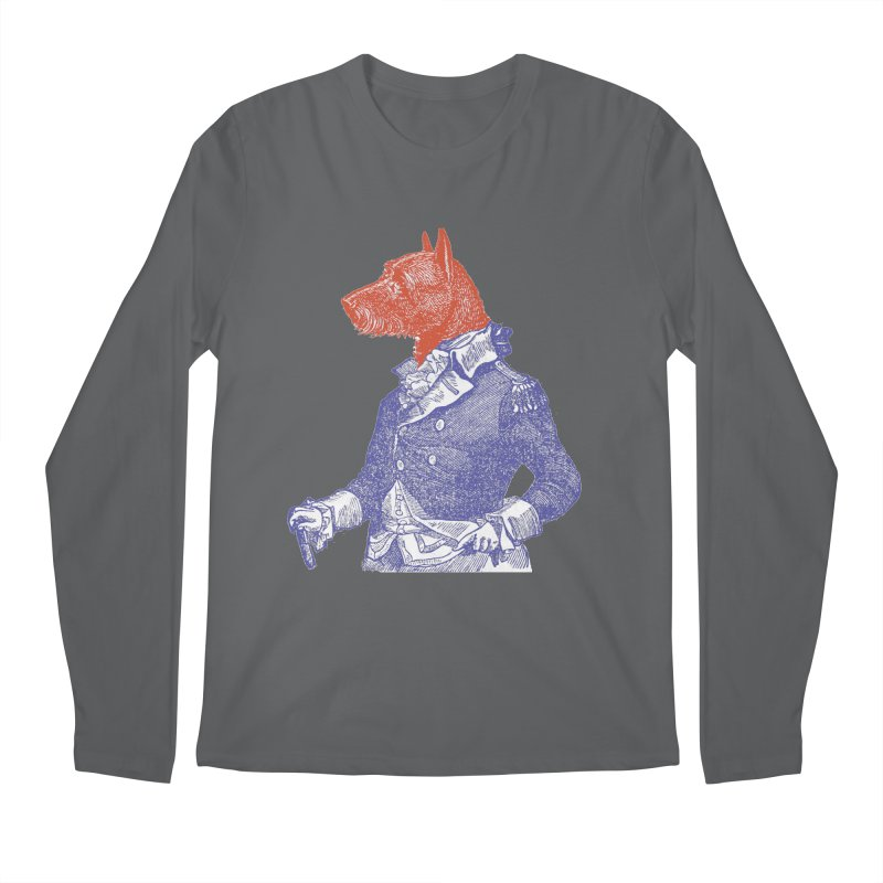 General Dog Men's Regular Longsleeve T-Shirt by Artist Shop of Pyramid Expander