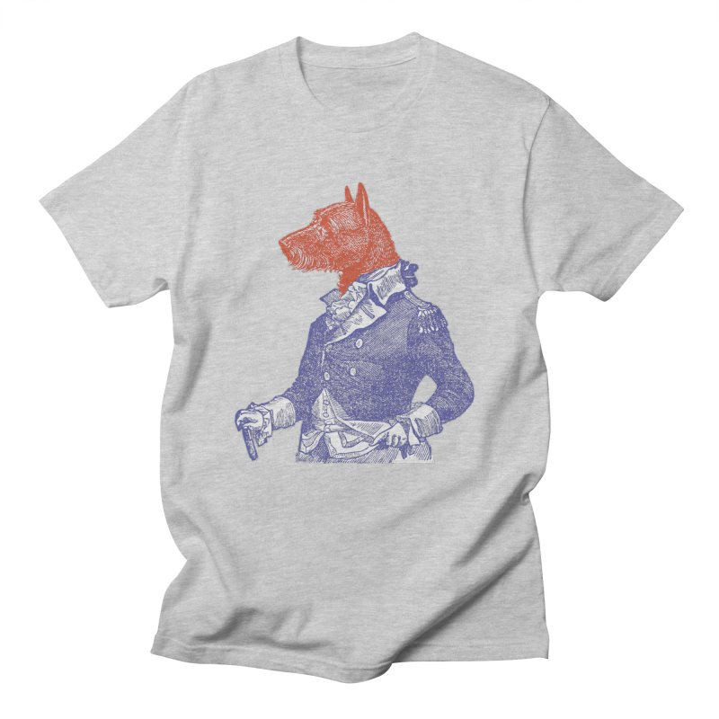 General Dog in Men's T-shirt Heather Grey by Artist Shop of Pyramid Expander