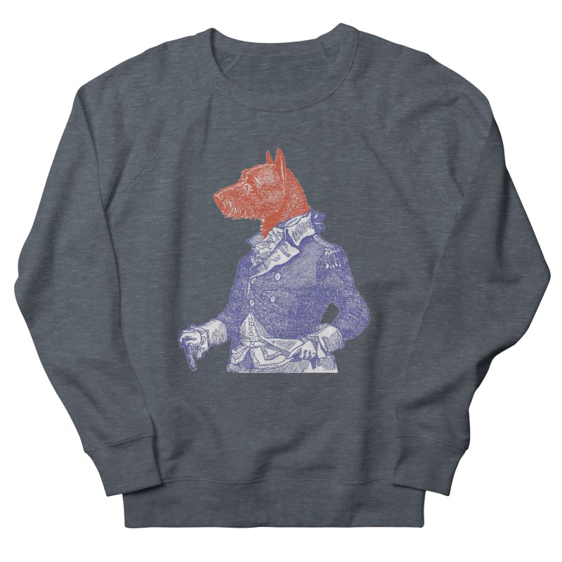 General Dog Men's French Terry Sweatshirt by Artist Shop of Pyramid Expander