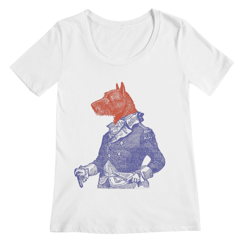 General Dog Women's Regular Scoop Neck by Artist Shop of Pyramid Expander