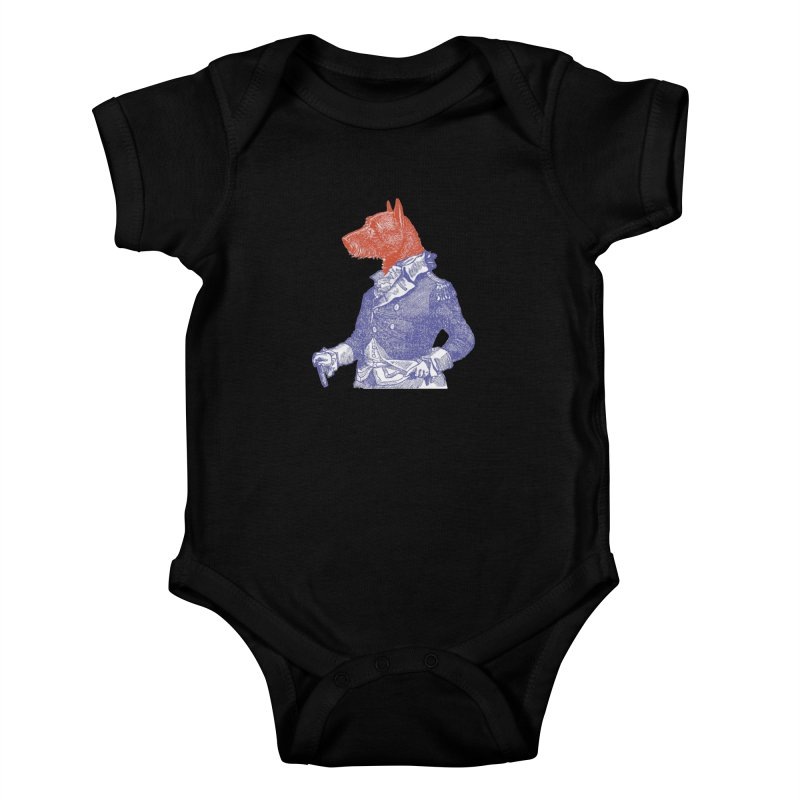 General Dog Kids Baby Bodysuit by Artist Shop of Pyramid Expander