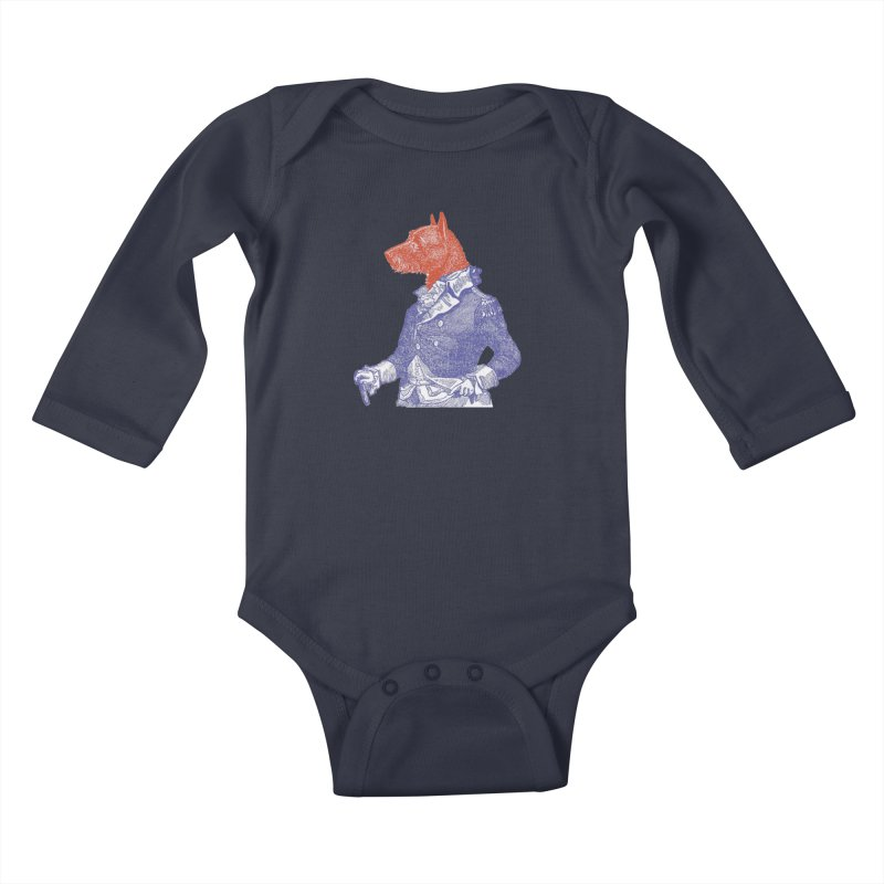 General Dog Kids Baby Longsleeve Bodysuit by Artist Shop of Pyramid Expander