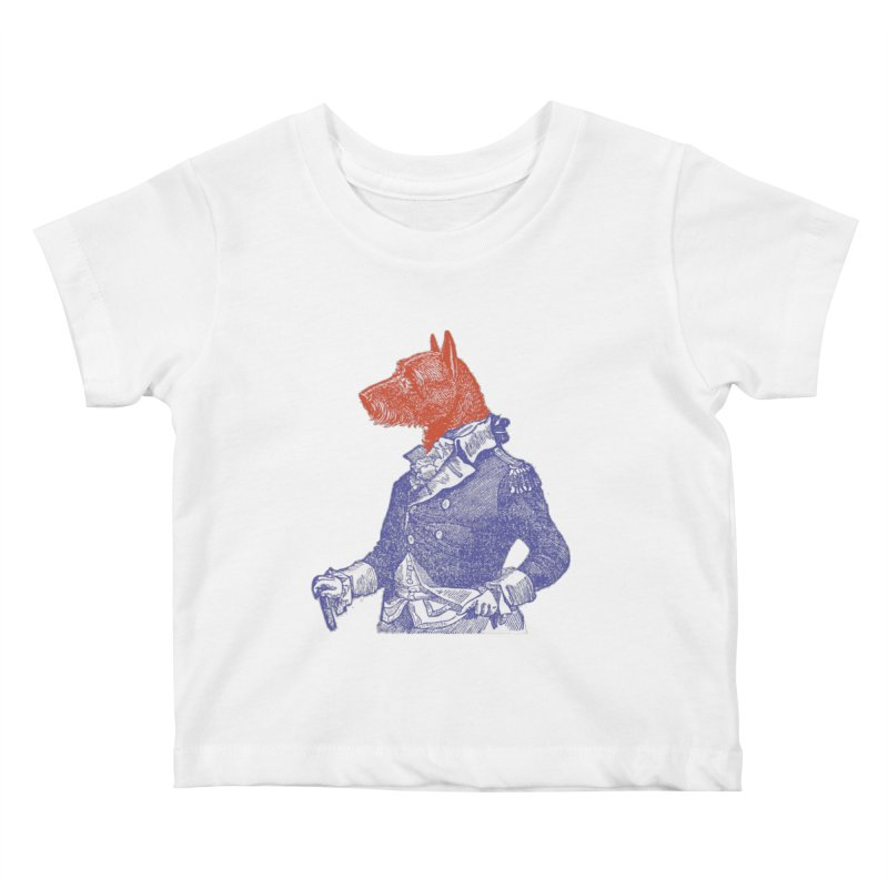 General Dog Kids Baby T-Shirt by Artist Shop of Pyramid Expander