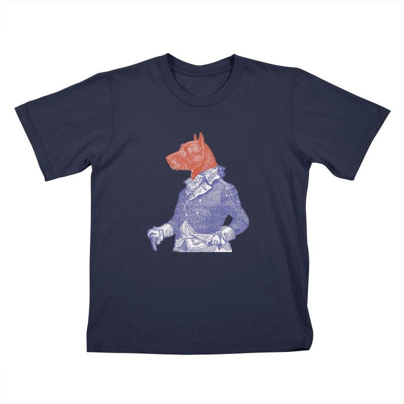 General Dog Kids T-Shirt by Artist Shop of Pyramid Expander