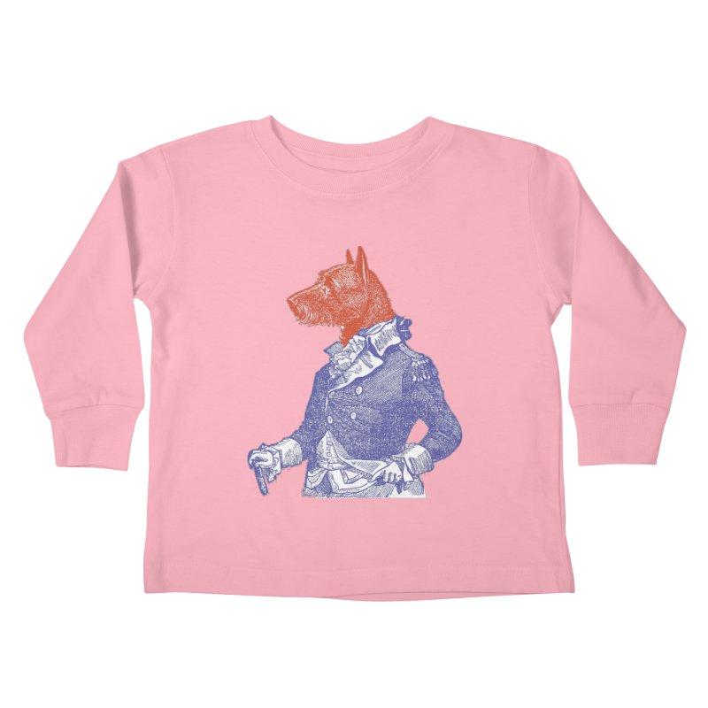 General Dog Kids Toddler Longsleeve T-Shirt by Artist Shop of Pyramid Expander