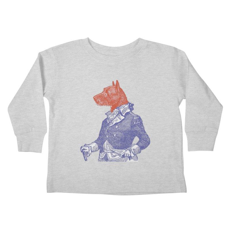 General Dog Kids Toddler Longsleeve T-Shirt by Artist Shop of Pyramid Expander
