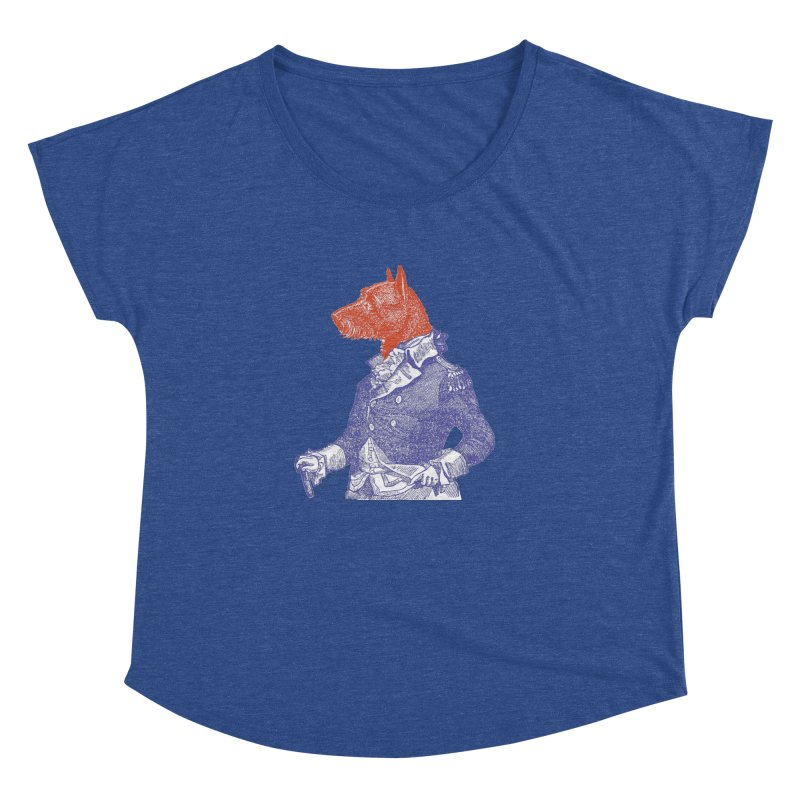 General Dog Women's Dolman Scoop Neck by Artist Shop of Pyramid Expander