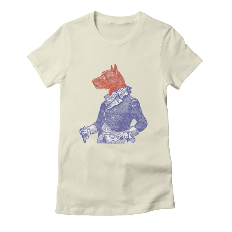 General Dog Women's Fitted T-Shirt by Artist Shop of Pyramid Expander