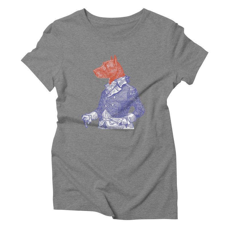 General Dog Women's Triblend T-Shirt by Artist Shop of Pyramid Expander