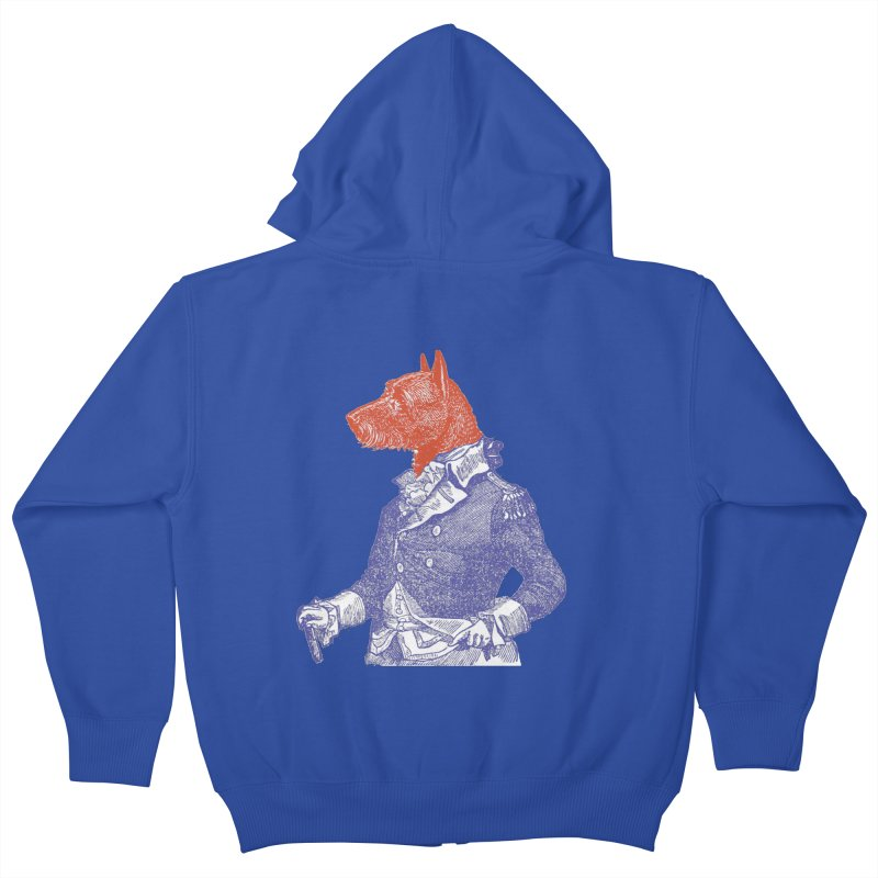 General Dog Kids Zip-Up Hoody by Artist Shop of Pyramid Expander