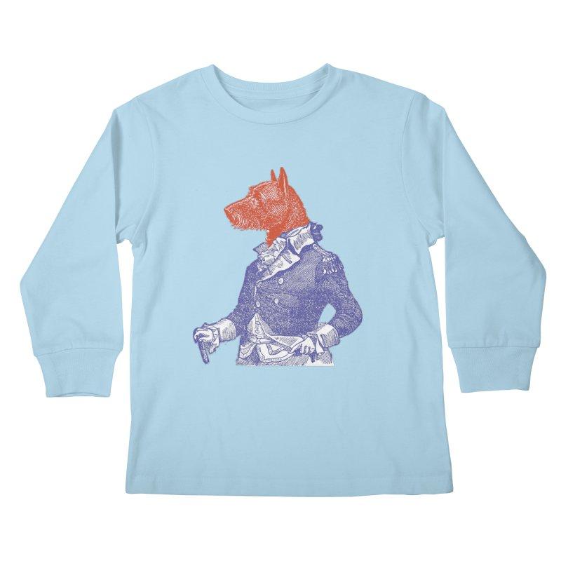 General Dog Kids Longsleeve T-Shirt by Artist Shop of Pyramid Expander