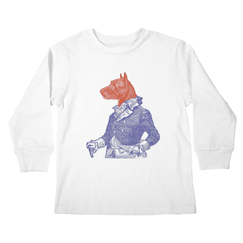 General Dog Kids Longsleeve T-Shirt by Artist Shop of Pyramid Expander