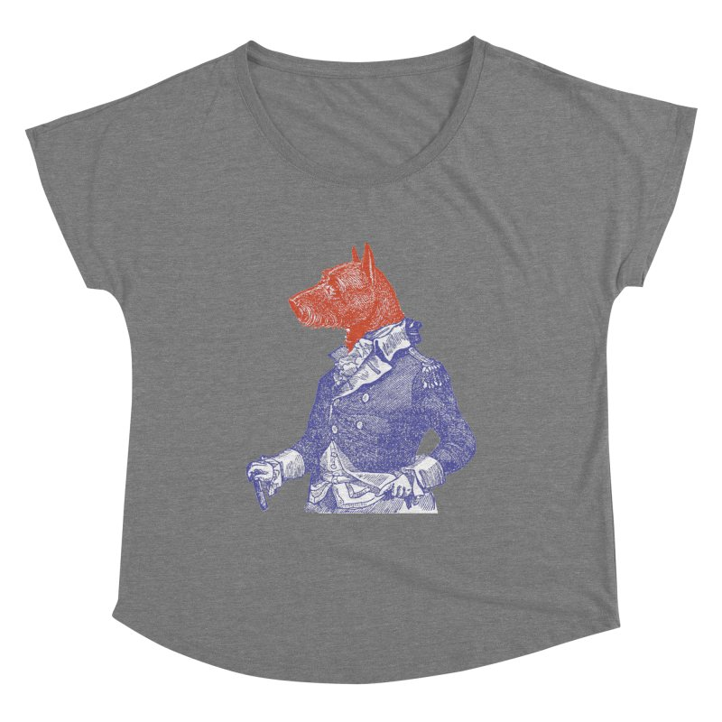 General Dog Women's Scoop Neck by Artist Shop of Pyramid Expander