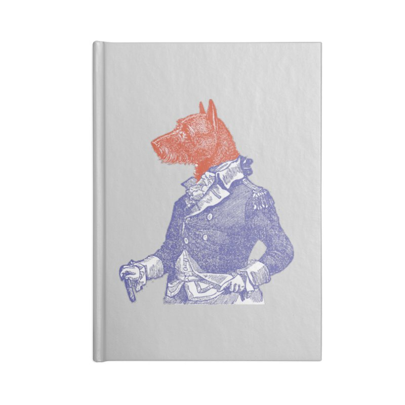 General Dog Accessories Blank Journal Notebook by Artist Shop of Pyramid Expander