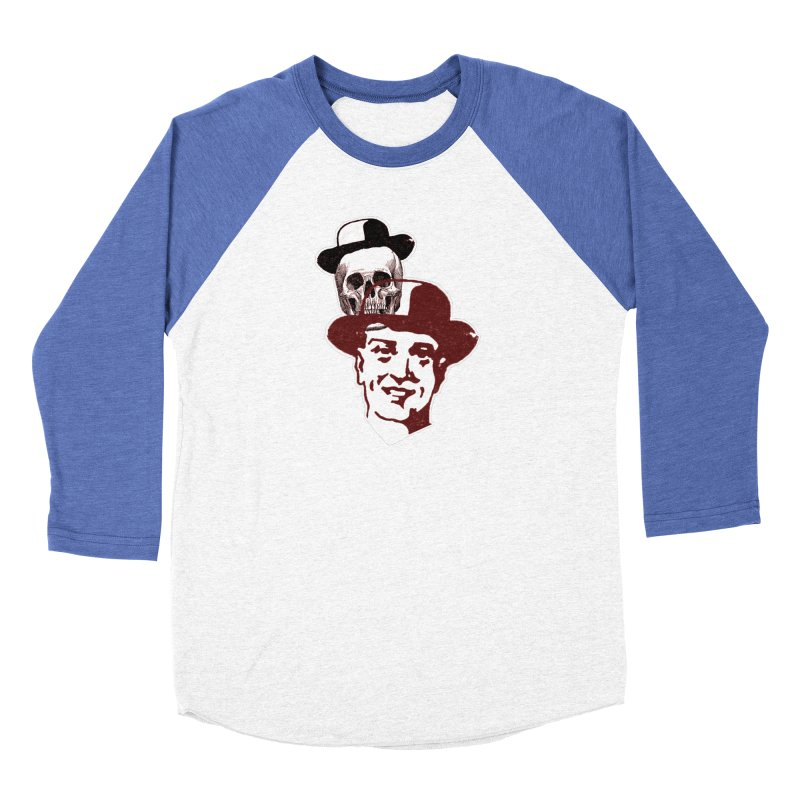 Procession Through Time Men's Baseball Triblend Longsleeve T-Shirt by Artist Shop of Pyramid Expander