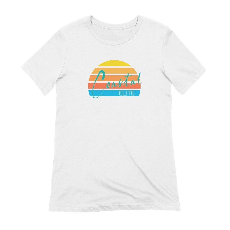 Coastal Elite Women's Extra Soft T-Shirt by Artist Shop of Pyramid Expander