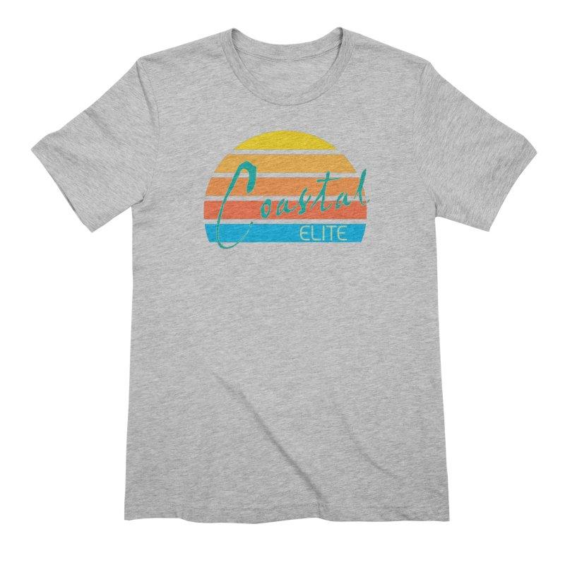 Coastal Elite Men's Extra Soft T-Shirt by Artist Shop of Pyramid Expander