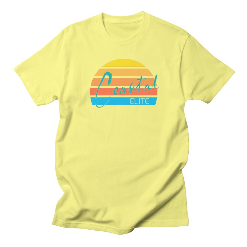 Coastal Elite in Men's T-shirt Lemon by Artist Shop of Pyramid Expander