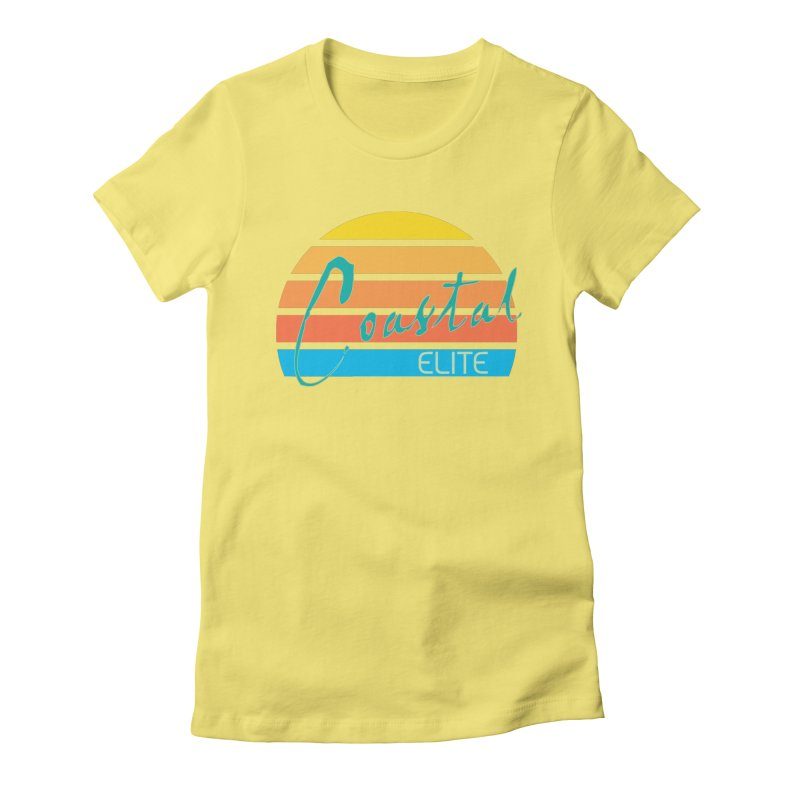 Coastal Elite Women's Fitted T-Shirt by Artist Shop of Pyramid Expander