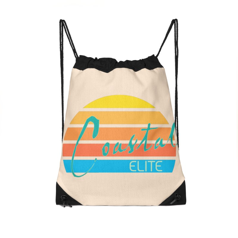 Coastal Elite Accessories Drawstring Bag Bag by Artist Shop of Pyramid Expander