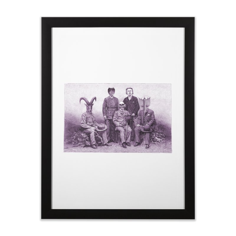5 Figures Home Framed Fine Art Print by Artist Shop of Pyramid Expander