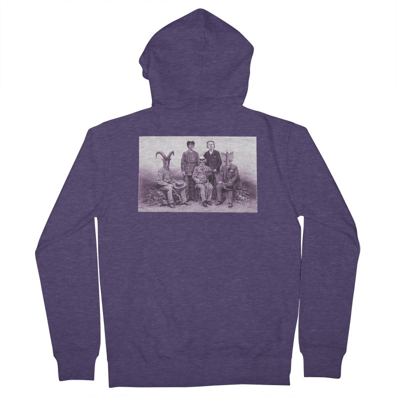 5 Figures Men's French Terry Zip-Up Hoody by Artist Shop of Pyramid Expander