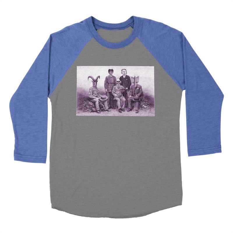5 Figures Women's Baseball Triblend Longsleeve T-Shirt by Artist Shop of Pyramid Expander