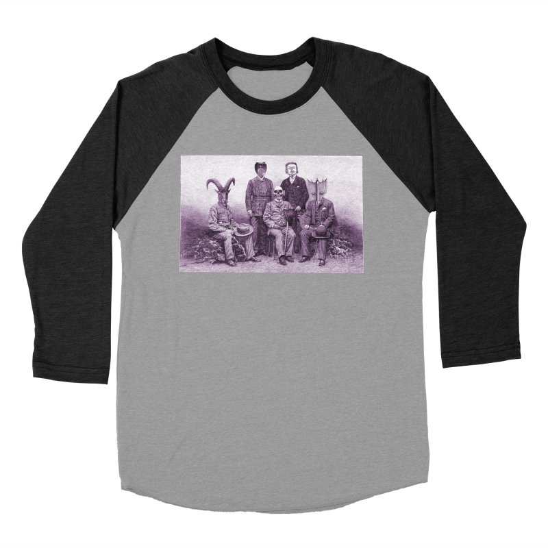 5 Figures Women's Baseball Triblend Longsleeve T-Shirt by Artist Shop of Pyramid Expander
