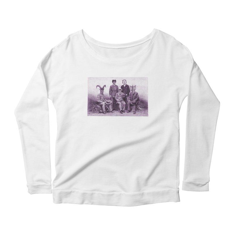 5 Figures Women's Scoop Neck Longsleeve T-Shirt by Artist Shop of Pyramid Expander