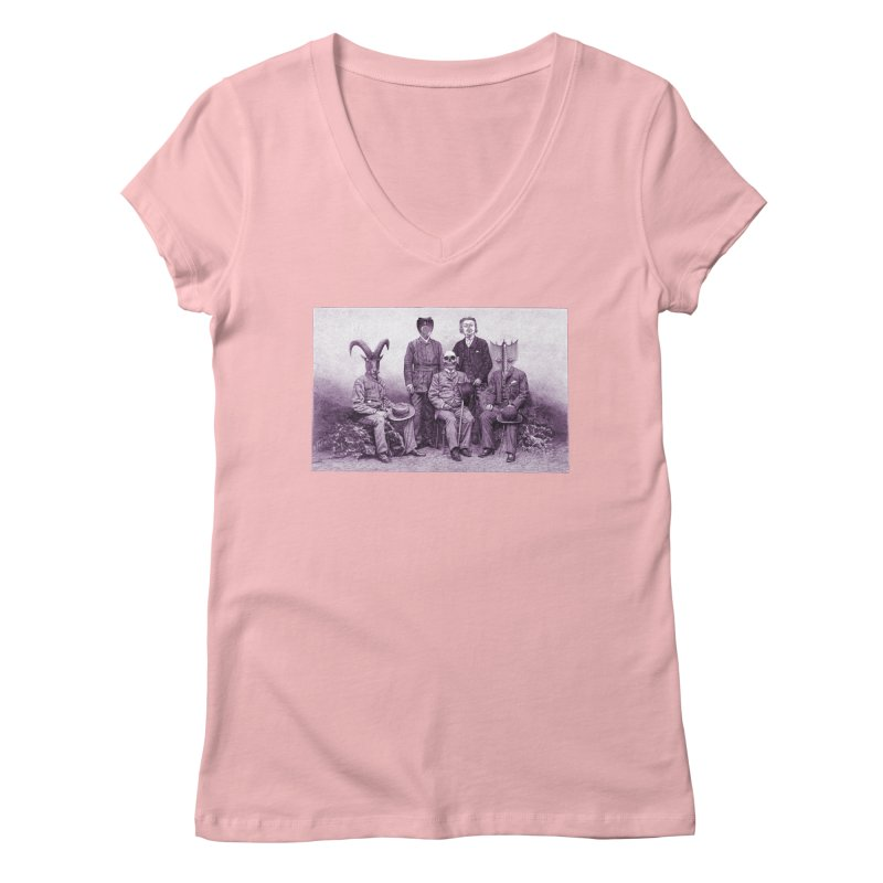 5 Figures Women's V-Neck by Artist Shop of Pyramid Expander