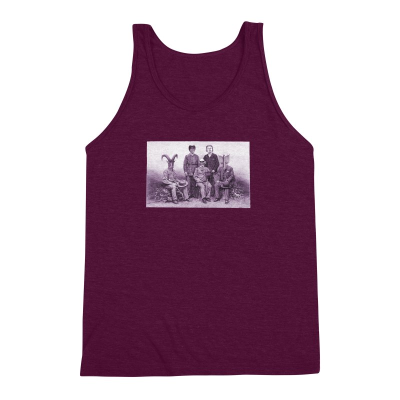 5 Figures Men's Triblend Tank by Artist Shop of Pyramid Expander