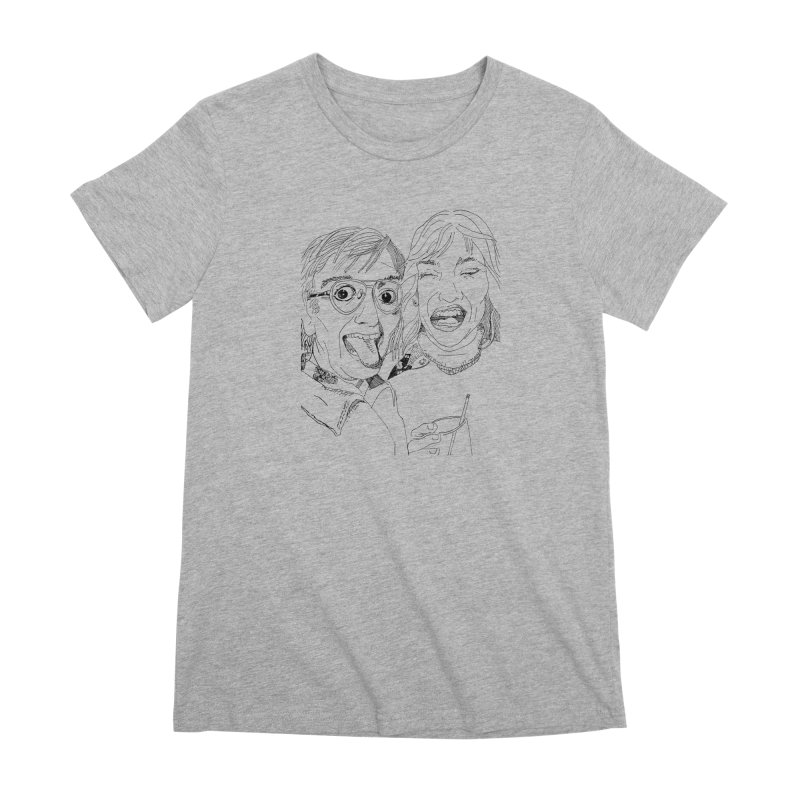 Yearbook Faces Women's Premium T-Shirt by Artist Shop of Pyramid Expander
