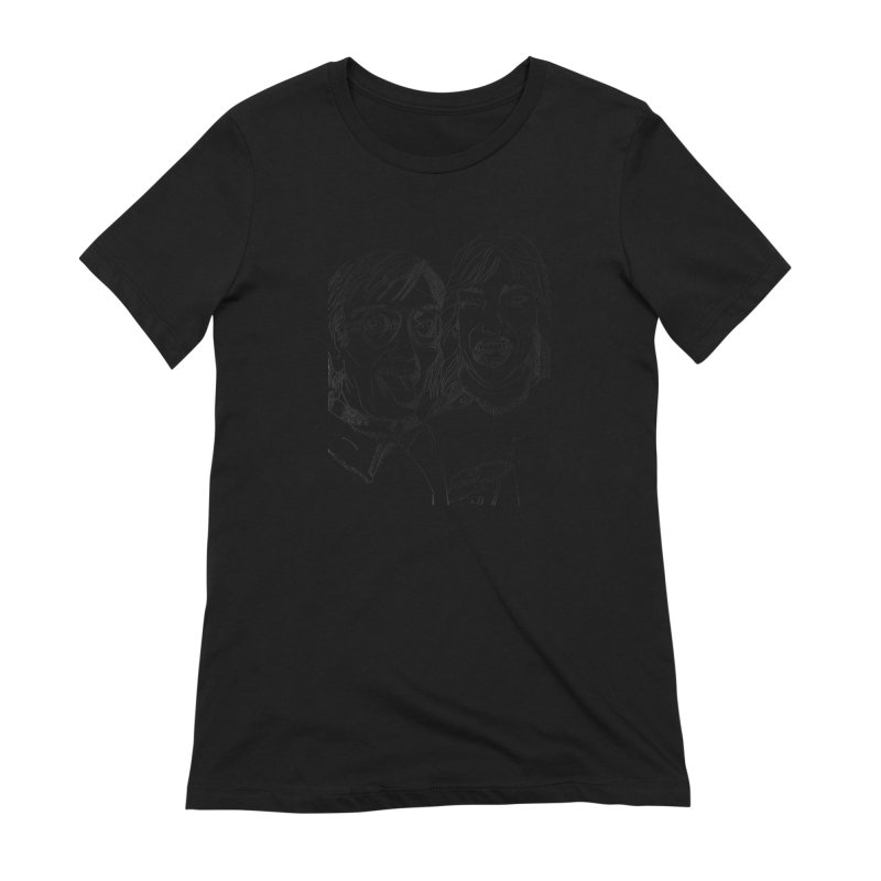 Yearbook Faces Women's Extra Soft T-Shirt by Artist Shop of Pyramid Expander
