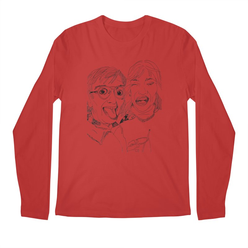 Yearbook Faces Men's Regular Longsleeve T-Shirt by Artist Shop of Pyramid Expander