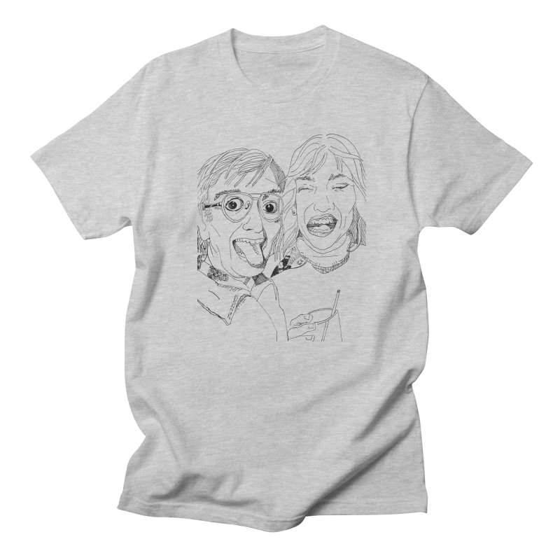 Yearbook Faces Men's Regular T-Shirt by Artist Shop of Pyramid Expander