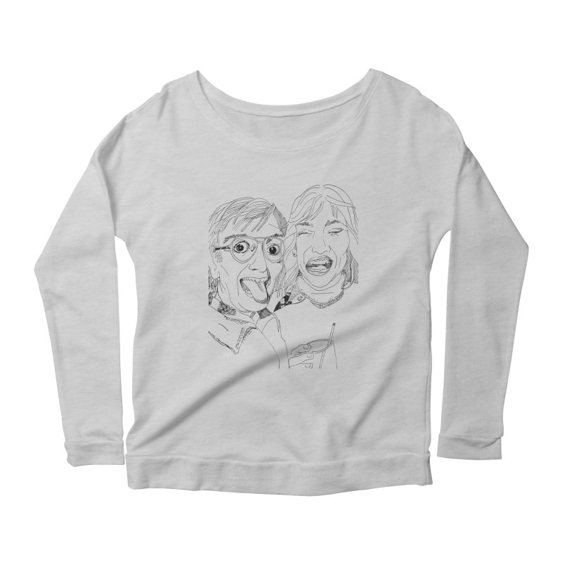 Yearbook Faces Women's Longsleeve Scoopneck  by Artist Shop of Pyramid Expander