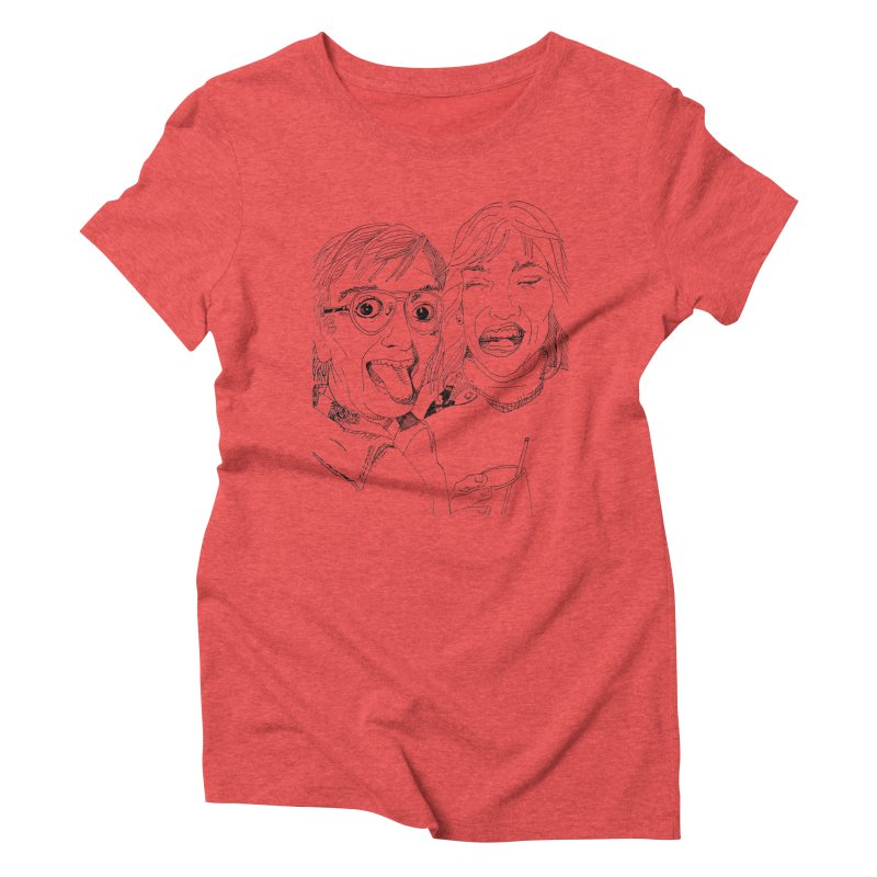 Yearbook Faces Women's Triblend T-Shirt by Artist Shop of Pyramid Expander