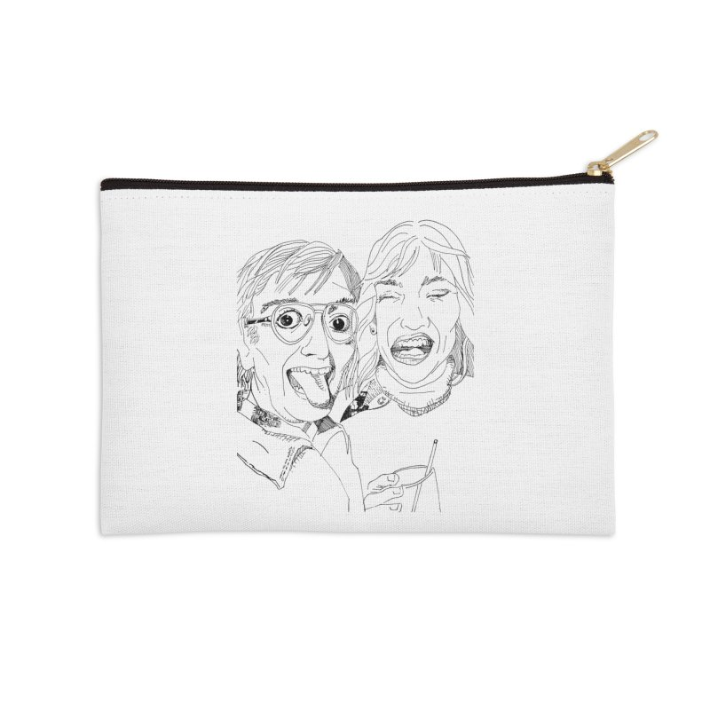 Yearbook Faces Accessories Zip Pouch by Artist Shop of Pyramid Expander