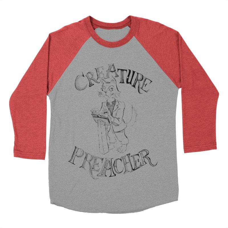 Creature Preacher Women's Baseball Triblend T-Shirt by Artist Shop of Pyramid Expander