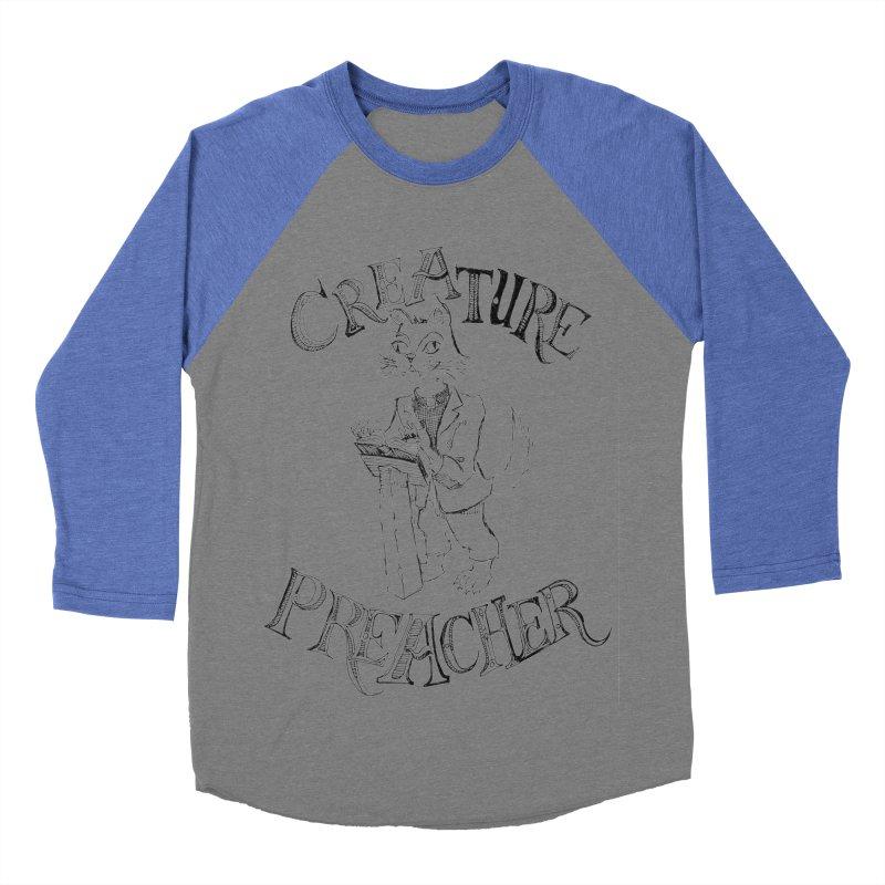 Creature Preacher Men's Baseball Triblend T-Shirt by Artist Shop of Pyramid Expander