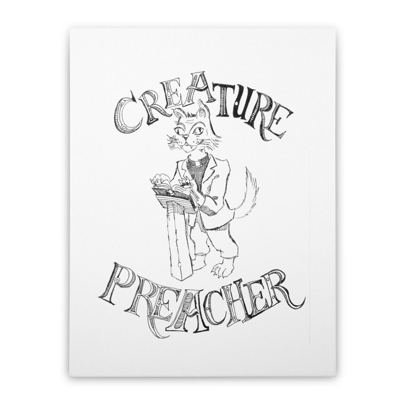 Creature Preacher Home Stretched Canvas by Artist Shop of Pyramid Expander