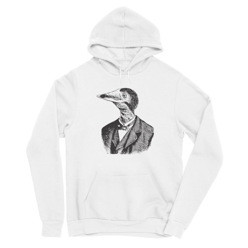 Man Bird Portrait Women's Sponge Fleece Pullover Hoody by Artist Shop of Pyramid Expander