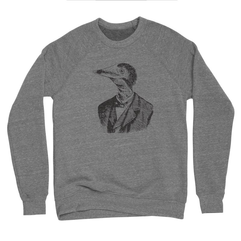Man Bird Portrait Men's Sponge Fleece Sweatshirt by Artist Shop of Pyramid Expander