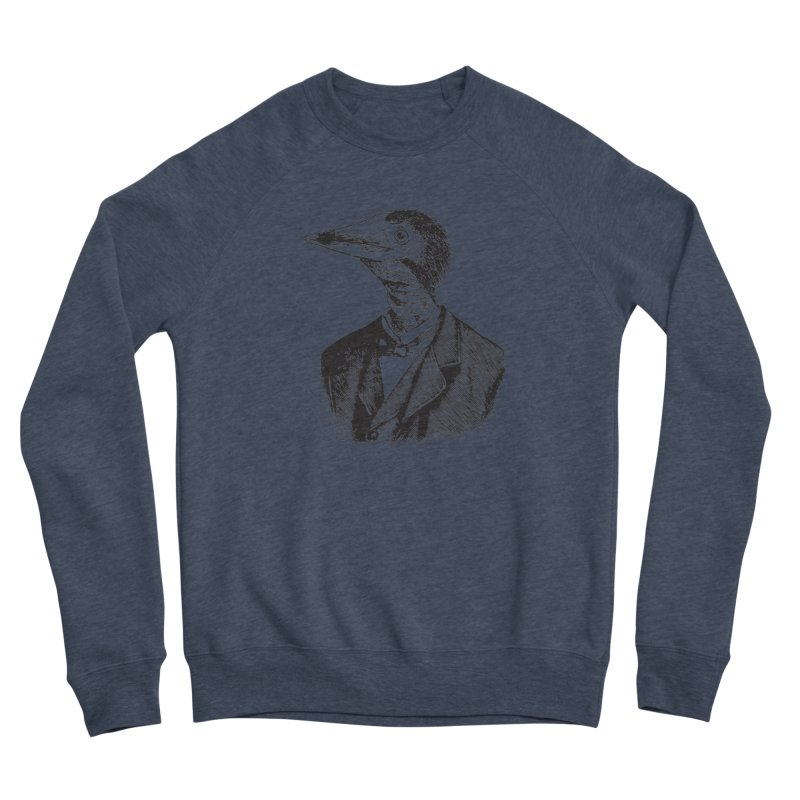 Man Bird Portrait Women's Sponge Fleece Sweatshirt by Artist Shop of Pyramid Expander