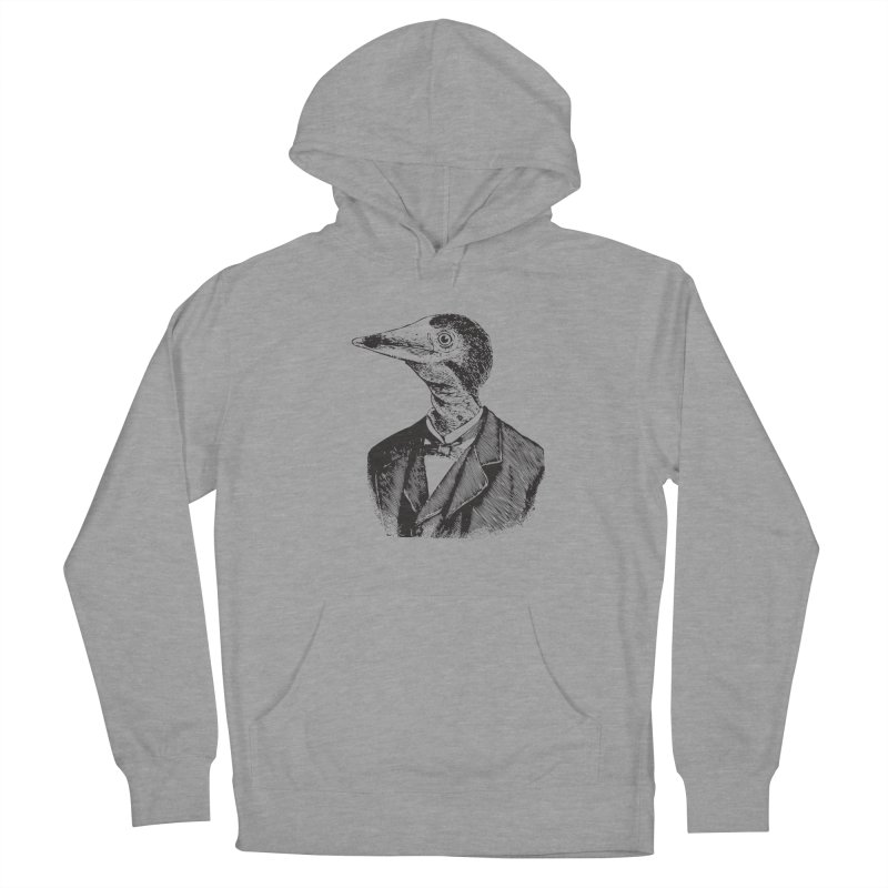 Man Bird Portrait Men's French Terry Pullover Hoody by Artist Shop of Pyramid Expander