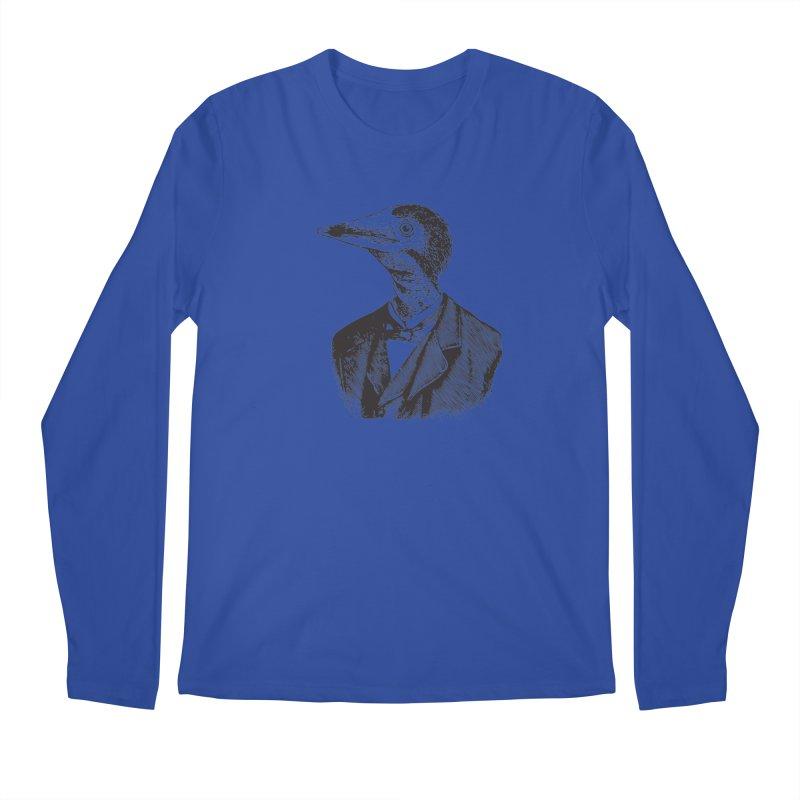 Man Bird Portrait Men's Longsleeve T-Shirt by Artist Shop of Pyramid Expander