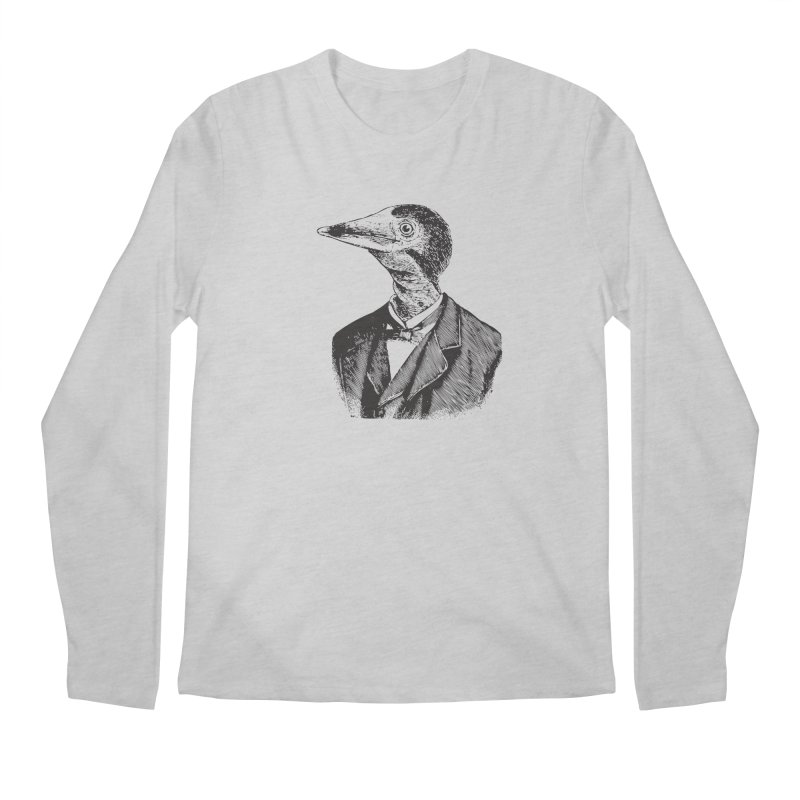 Man Bird Portrait Men's Longsleeve T-Shirt by Artist Shop of Pyramid Expander