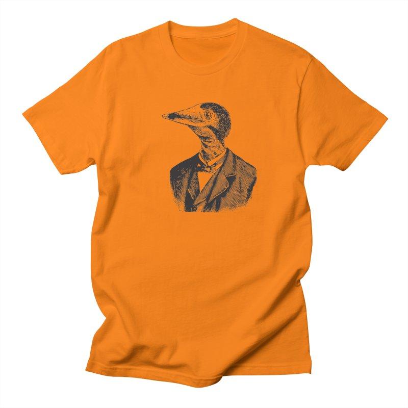 Man Bird Portrait Men's Regular T-Shirt by Artist Shop of Pyramid Expander