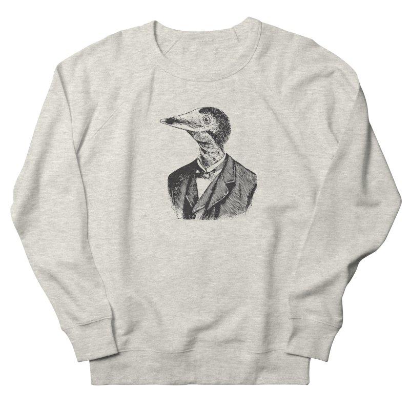 Man Bird Portrait Men's French Terry Sweatshirt by Artist Shop of Pyramid Expander