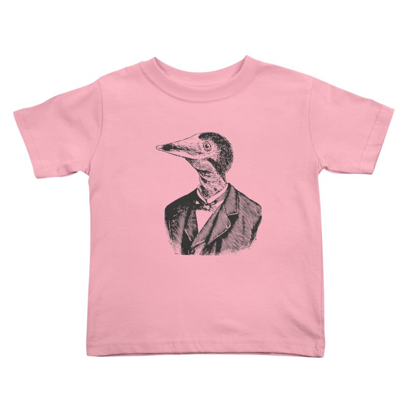 Man Bird Portrait Kids Toddler T-Shirt by Artist Shop of Pyramid Expander